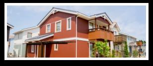 画像:茶色に塗装した後の一軒家
